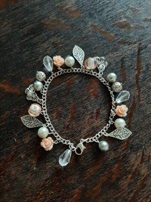Bijou Brigitte Charm Bracelet silver-colored-apricot