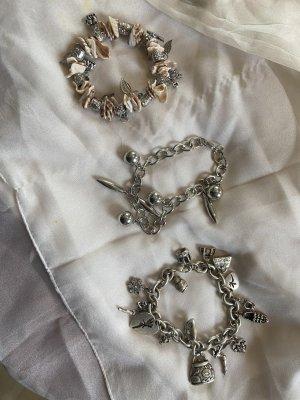 Bijou Brigitte Charm Bracelet light grey mixture fibre
