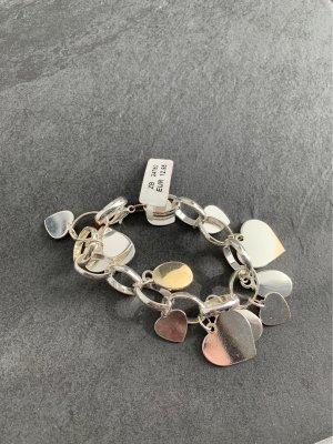 Bracelet à breloques argenté