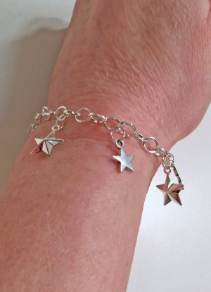 no name Bracelet à breloques argenté tissu mixte