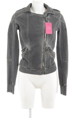 Better Rich Biker Jacket grey Metal elements