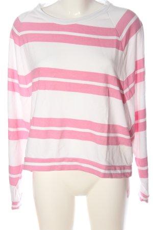 BETTER RICH GANSEVOORT Sweatshirt weiß-pink Streifenmuster Casual-Look
