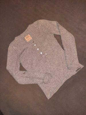 Better Rich Kraagloze sweater lichtgrijs-grijs