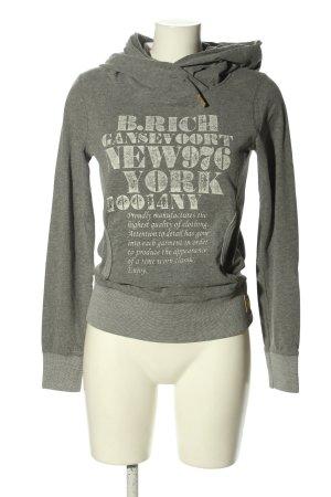 Better Rich Kapuzensweatshirt hellgrau-weiß meliert sportlicher Stil