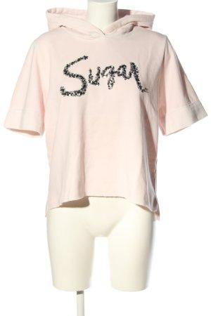 Better Rich Kapuzensweatshirt pink-silberfarben Schriftzug gedruckt Casual-Look