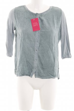 Better Rich Short Sleeved Blouse light grey-turquoise flecked casual look