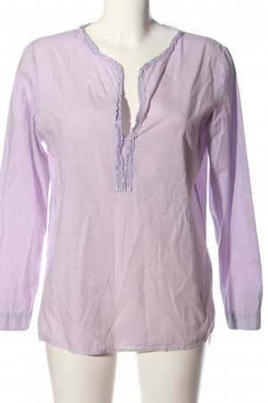 Better Rich Langarm-Bluse lila Casual-Look