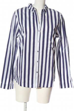 Better Rich Long Sleeve Shirt blue-white striped pattern business style