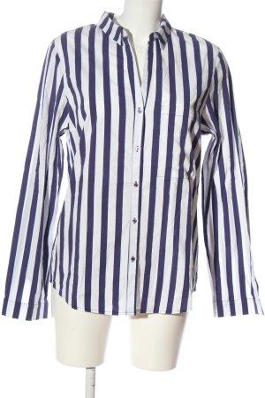 Better Rich Chemise à manches longues bleu-blanc motif rayé style d'affaires