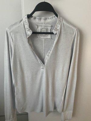 Better Rich T-shirt col en V gris clair