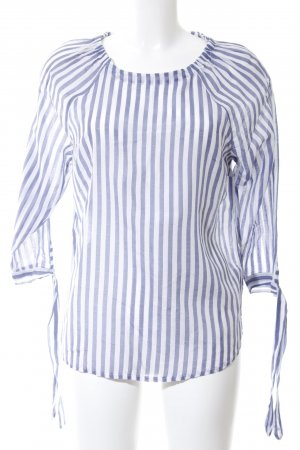 Better Rich Linen Blouse blue-white striped pattern casual look