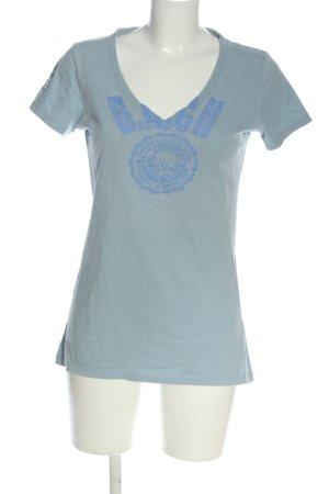 Better Rich Print-Shirt hellgrau-blau Motivdruck Casual-Look