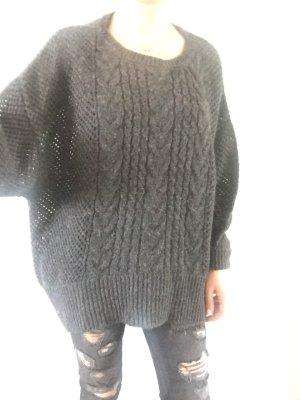 Better Rich Coarse Knitted Sweater dark grey-black