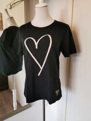 Better Rich Shirt Schwarz Gr. M weißer Herzprint