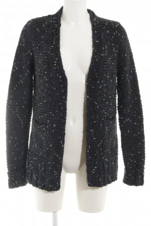 Better Rich Gebreide cardigan zwart-wit gestippeld casual uitstraling