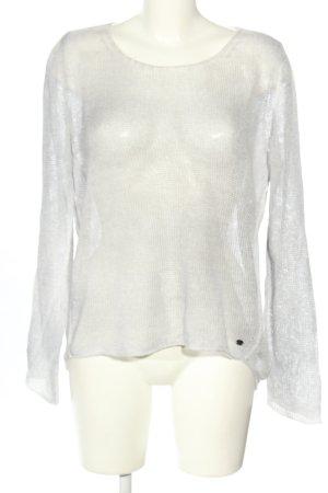Better Rich Knitted Sweater light grey-natural white flecked elegant