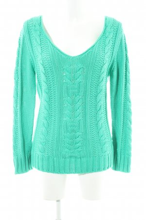 Better Rich Knitted Sweater mint cable stitch casual look