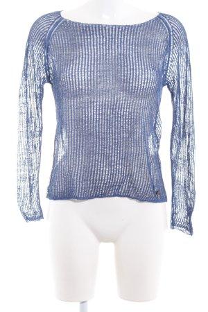 Better Rich Pull tricoté bleu acier style décontracté