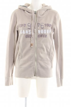 Better Rich Sweat Jacket cream printed lettering casual look