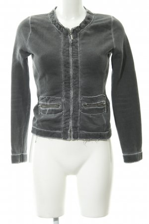 Better Rich Sweat Jacket dark grey distressed style
