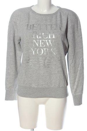 Better Rich Sweatshirt gris clair moucheté style décontracté