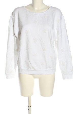 Better Rich Sweatshirt weiß-creme Allover-Druck Casual-Look