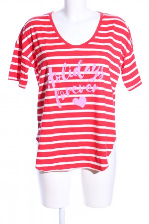 Better Rich T-Shirt red-white themed print casual look