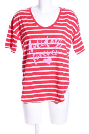 Better Rich T-shirt rouge-blanc imprimé avec thème style décontracté