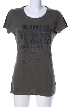 Better Rich T-Shirt khaki Schriftzug gedruckt Casual-Look