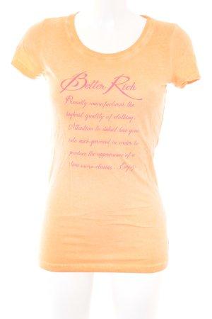 Better Rich T-shirt orange imprimé avec thème style décontracté
