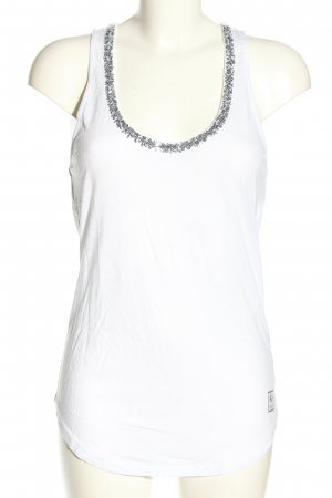 Better Rich Strappy Top white-silver-colored casual look