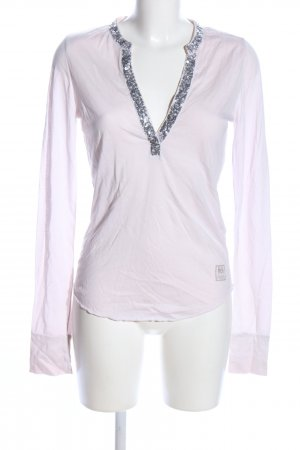 Better Rich V-Neck Shirt white-pink casual look