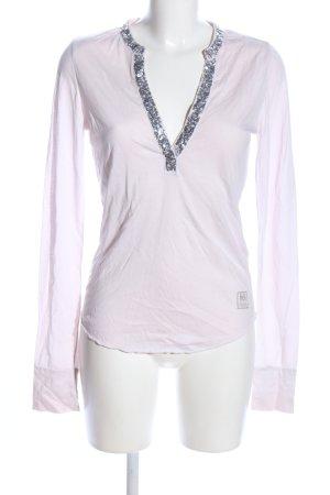 Better Rich Maglia con scollo a V bianco-rosa stile casual