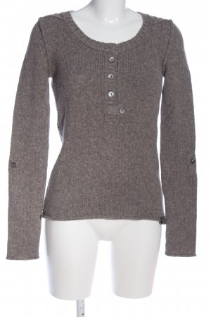 Better Rich Wool Sweater brown-light grey flecked casual look