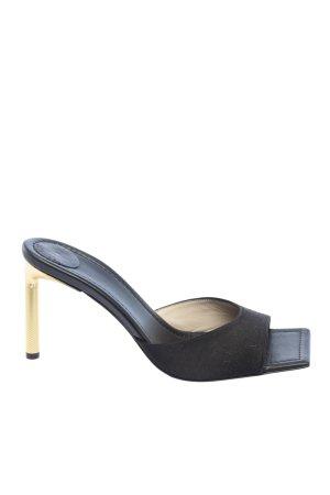 Bettina Vermillon Absatz Pantoletten schwarz Elegant