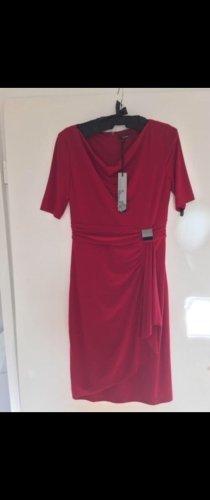 Vera Mont Vestido de tela de jersey magenta