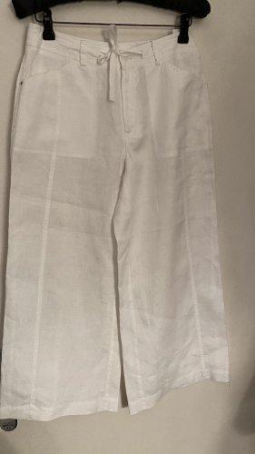 Betty Beclay Lniane spodnie biały