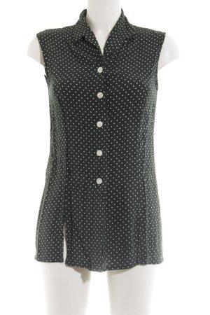 Betty Barclay ärmellose Bluse schwarz-weiß Punktemuster Casual-Look