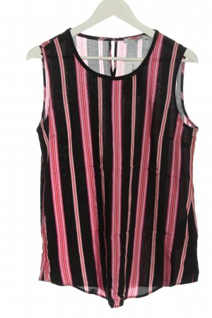 Betty Barclay ärmellose Bluse schwarz-pink Streifenmuster Casual-Look