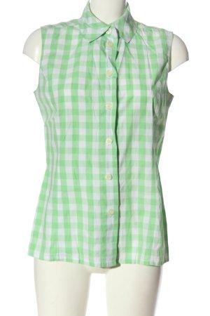 Betty Barclay ärmellose Bluse weiß-grün Allover-Druck Casual-Look