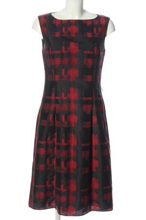 Betty Barclay Abito longuette rosso-nero motivo astratto stile casual
