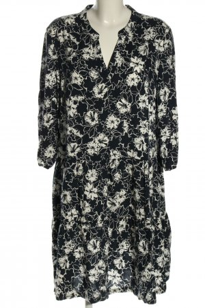 Betty Barclay Abito blusa nero-bianco motivo floreale stile casual