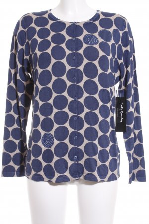 Betty Barclay Cardigan dunkelblau-beige Punktemuster Elegant