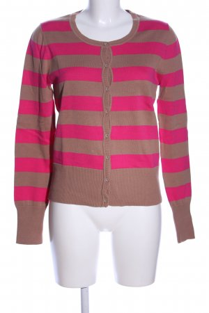 Betty Barclay Cardigan pink-braun Streifenmuster Casual-Look