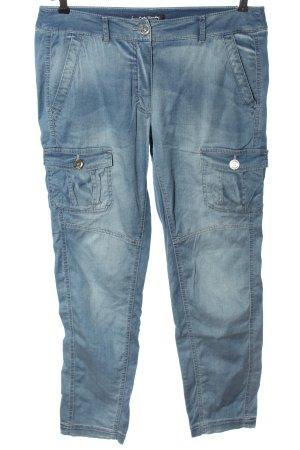 Betty Barclay Pantalon cargo bleu style décontracté