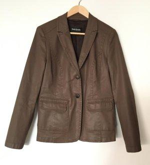 Betty Barclay Collection coated Blazer braun ca. Gr. 38