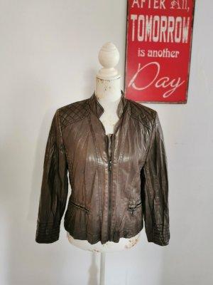 Betty Barclay Veste en cuir synthétique brun polyuréthane