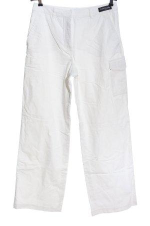 Betty Barclay Corduroy broek wit casual uitstraling