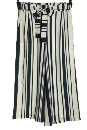 Betty Barclay Pantalone culotte bianco-nero motivo a righe stile casual