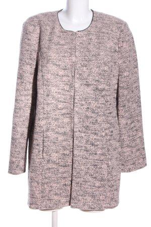 Betty Barclay Duffle-coat noir-rose moucheté style décontracté